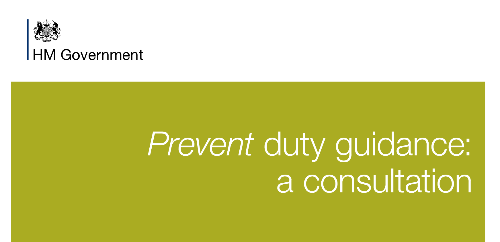 Prevent duty guidance: a consultation